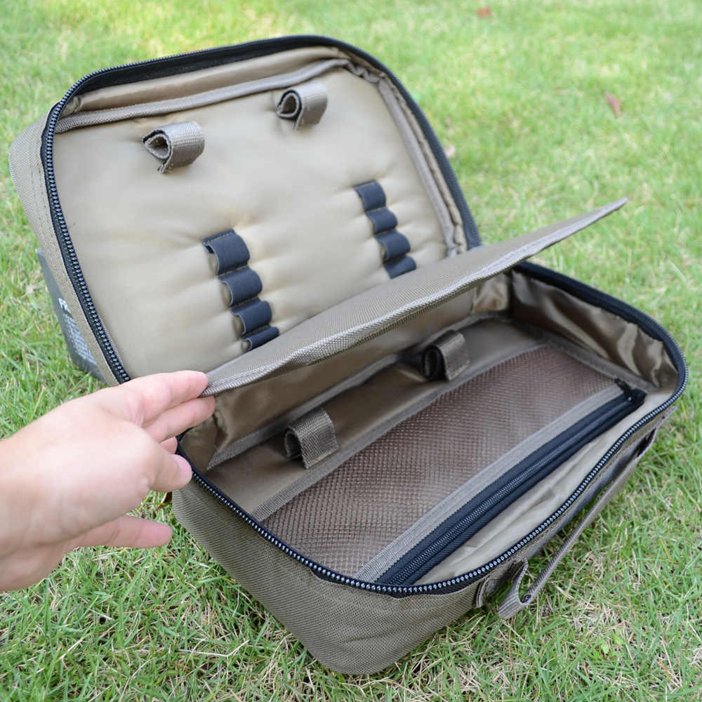 Carp Fishing Bags for Buzz Bar Carryall Luggage with Bank Sticks Rod Pod Bite Alarms Size 20x33x10cm