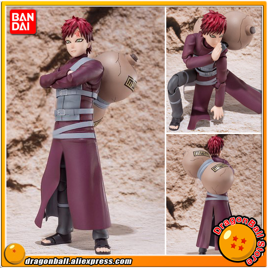 Japan Anime NARUTO Shippuden Original BANDAI Tamashii Nations S.H.Figuarts / SHF Exclusive Action Figure - Sabaku no Gaara anime captain america civil war original bandai tamashii nations shf s h figuarts action figure ant man
