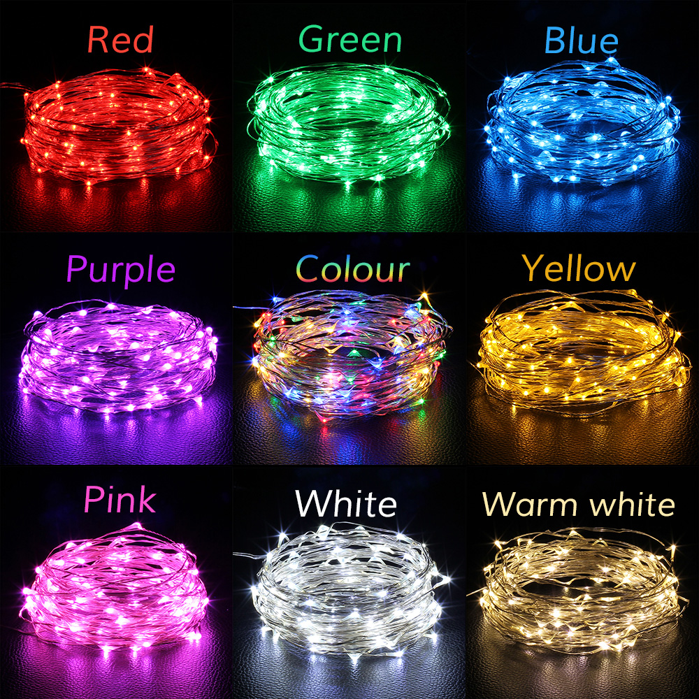 Usb Led String Light 5m 50leds 10m 100leds Copper Wire Holiday Warm White Strip Lights 12v Dc Christmas Wedding Party Decoration Fairy In Lighting Strings From