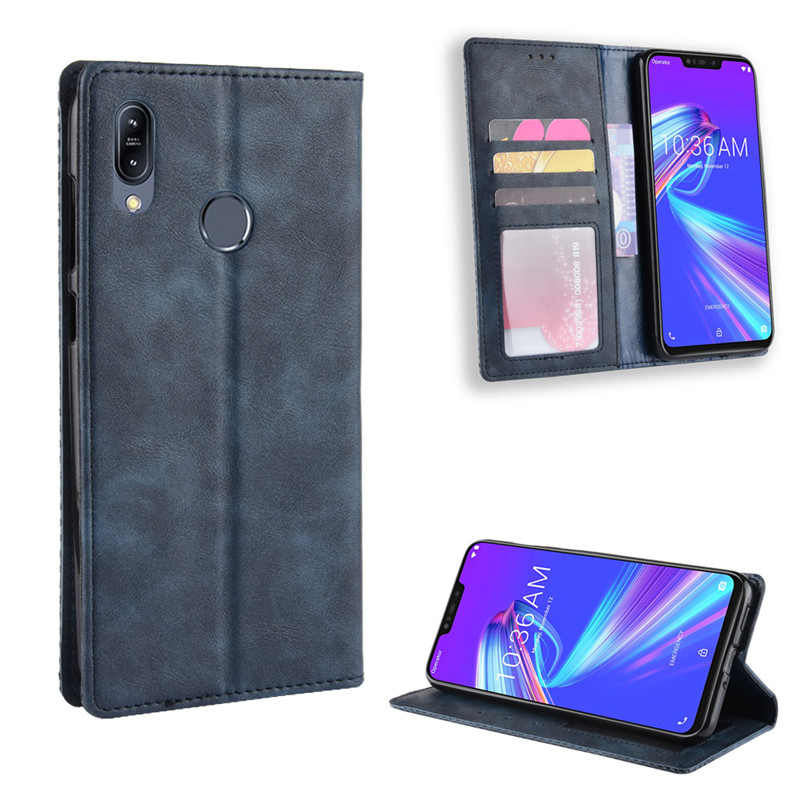 Flip Cover Asus Zenfone Max Pro M2 ZB631KL Case Wallet Card Stand Magnetic Cover For Asus Zenfone Max M2 ZB633KL Phone Cases