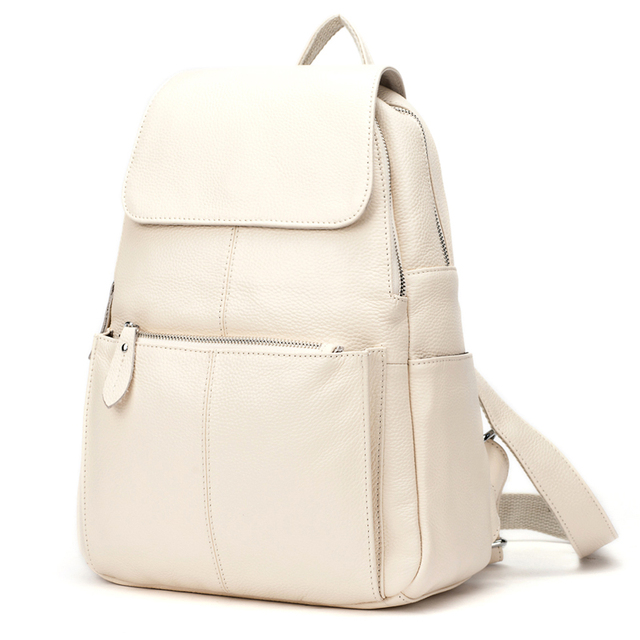 Zency Fashion Soft Genuine Leather Large Women Backpack High Quality A+ Ladies Daily Casual Travel Bag Knapsack Schoolbag Book 4