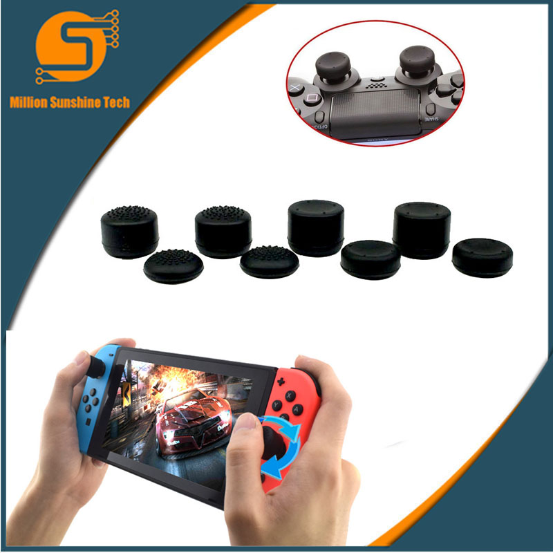 8Pcs Anti-Slip Silicone Thumb Grips Thumbstick Caps Case For Joy-Con Controller Analog Cover For Nintend Switch Console