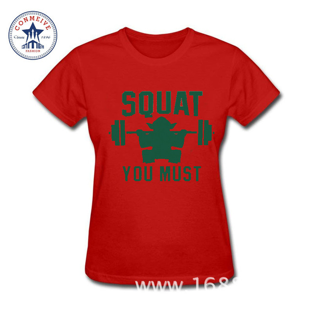 Star Wars Women T-Shirt – Squat You Must (Yoda)