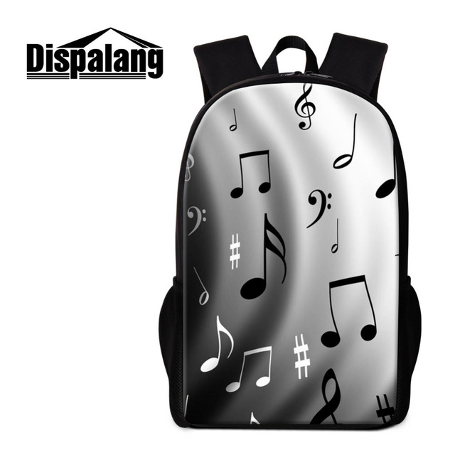 Dispalang Music Note Print Womens Mens Backpack School Bag for Teenager  Kids Girls Schoolbag Children Bookbag Casual Travel Bag-in Backpacks from  Luggage ... 9a9333d378b2d