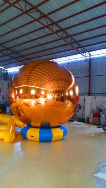HOT Ballon Gonflable 1.5m Qızıl Dekorasiya Şişmə Güzgü Topu - Açıq havada əyləncə və idman - Fotoqrafiya 2