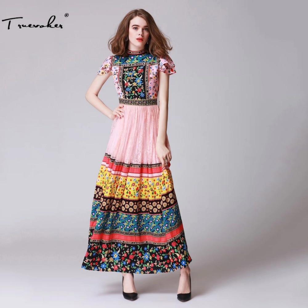 Stand Collar Dress Designs : Truevoker designer summer long dress women petal sleeve