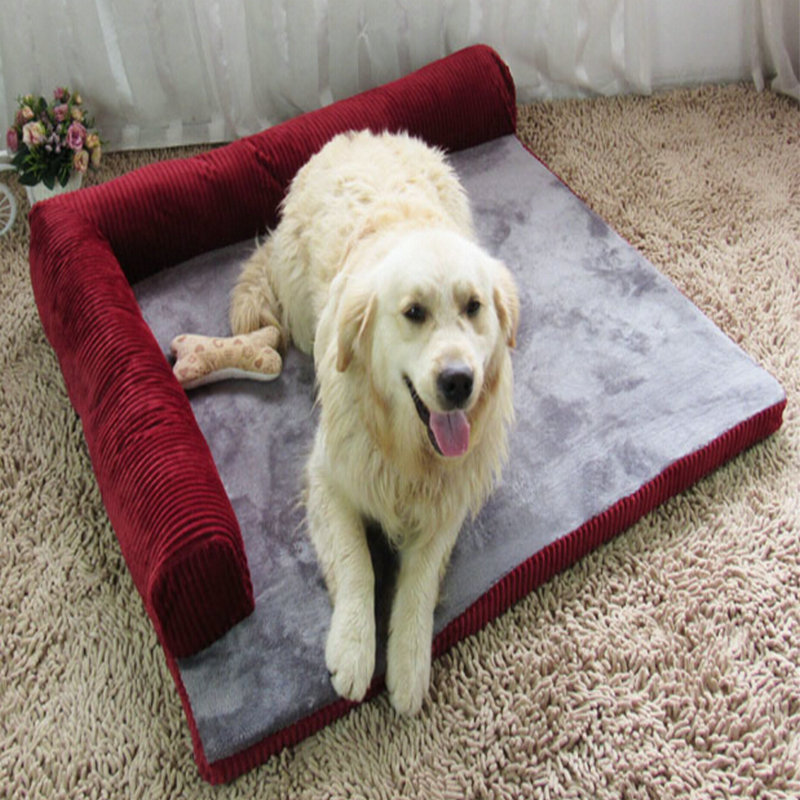 Thickened Pet Dog bed Sofa Mat soft Comfortable Detachable deign Resistance to bite Large Dog Cat Bed Indoor pet house b091