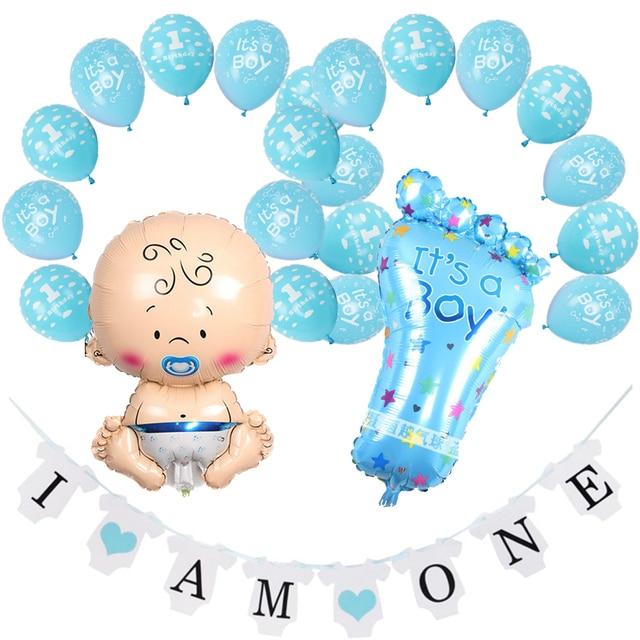 Amawill 1st Birthday Decorations Its A Boy Girl Blue Pink Latex