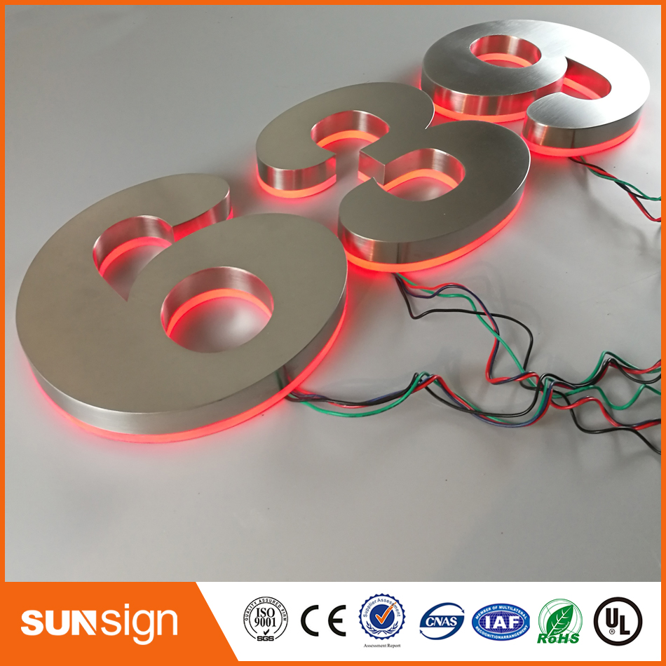 Wholesale LED Lighted House Number Plate For Hotel Houses