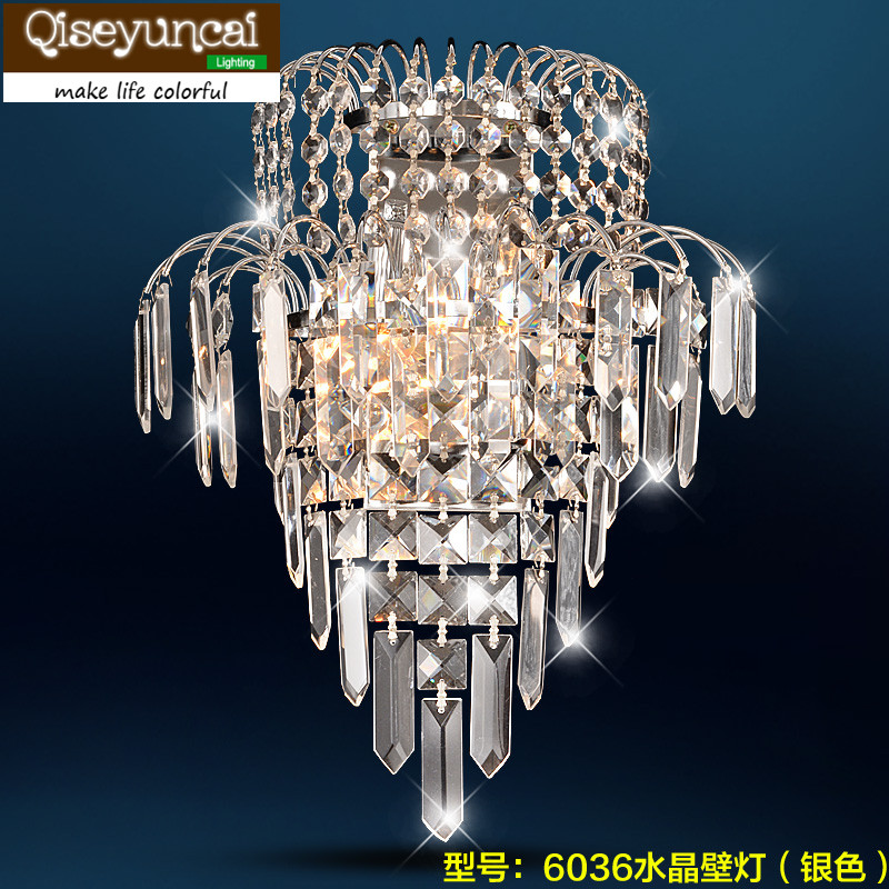 Qiseyuncai LED  crystal wall lamp room bedroom bedside lamp corridor wall decoration lighting modern lamp trophy wall lamp wall lamp bed lighting bedside wall lamp