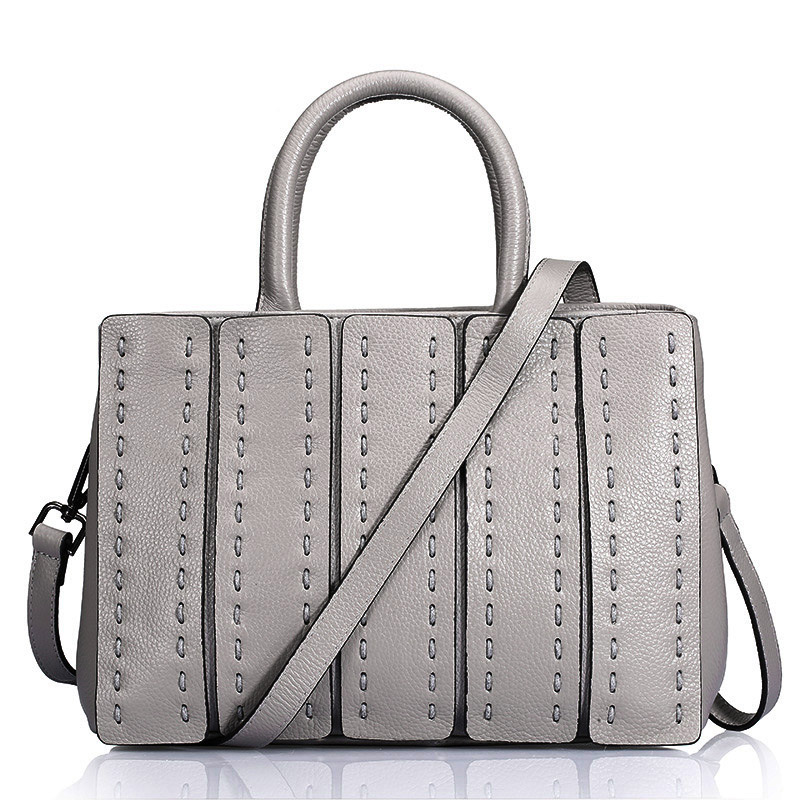 ФОТО Hot Pretty First Layer Cow Genuine Leather Women Handbag Thread Sewing Style Ladies Travel Bags New Tredy Messenger Bag