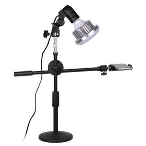 Регулируемый Настольный держатель для телефона + стрела + Супер яркий 35 Вт Светодиодный светильник для фотостудии наборы для рабочего стола...