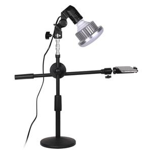 Image 3 - Adjustable Desktop Phone Shooting Bracket Stand+ Boom Arm+Super Bright 35W LED Light Photo Studio Kits For Desktop Photo/Video