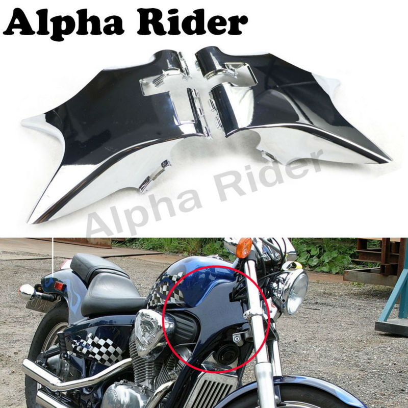 ABS Neck Fairing Cover Cowl Wire Frame Guard for Honda Shadow VT 600 VLX600 STEED400 88-98 97 96 95 94 93 92 91 90 Chrome/Black for 88 98 honda shadow vt600 vlx 600 steed 400 motorcycle abs plastic frame neck cover cowl wire covers side frame guard black