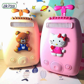 akitoo Trolley microphone microphone karaoke singing music children's educational toys smart connection mobile phone