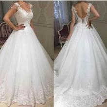 SexeMara Wedding Dress with Backless Sweep Train Sleeveless