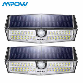 2 Pack MPOW 66 LED Motion Sensor Solar Lights 3 Lighting Modes Powerful IP66 Waterproof Wall Lamps Luz Solar Led Para Exterior - DISCOUNT ITEM  39% OFF All Category