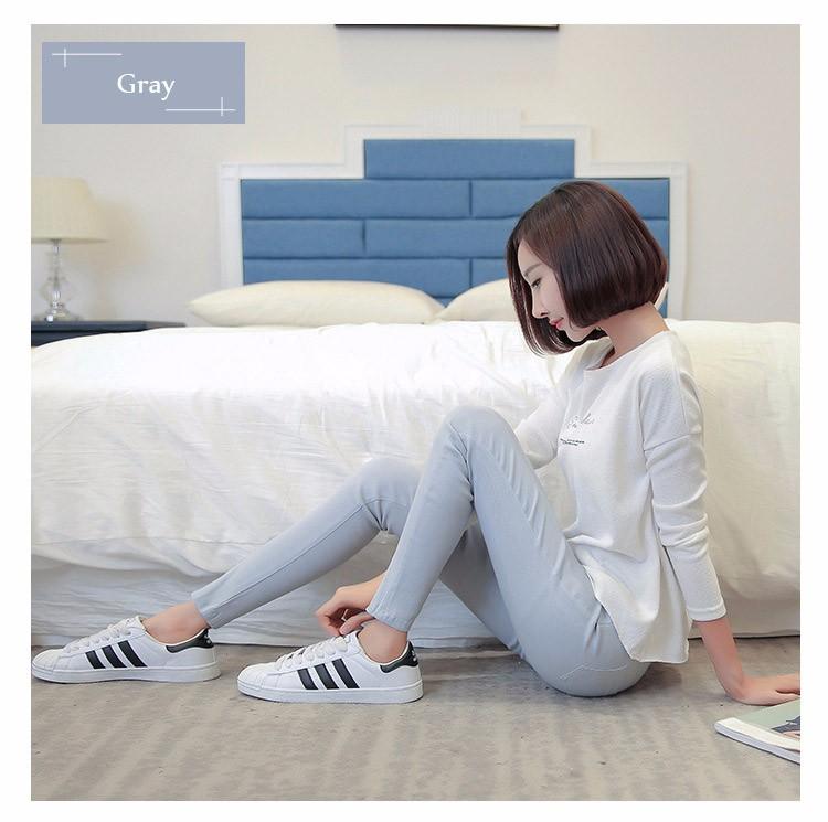 7 Colors Plus Size Pants Full Length Women Spring Autumn Pencil Pants Causal Slim High Waist Legging Stretch Trousers 2016 A663  c