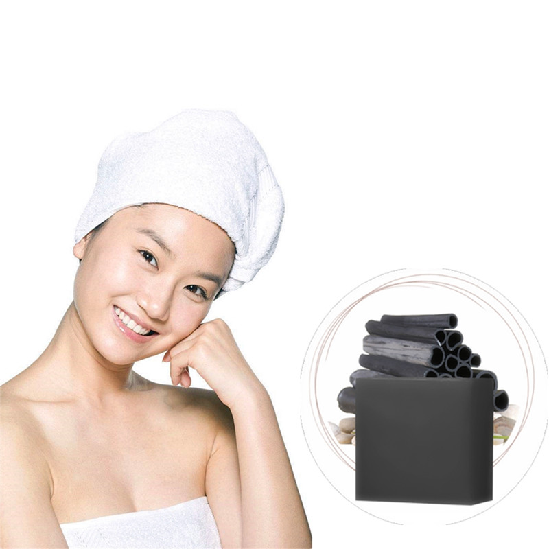 Anti-allergic Acne Treatment Herbal Medicine Soaps Whitening Moisturizing Nature Bamboo Charcoal Pores Grease Dirt Cleaning Soap