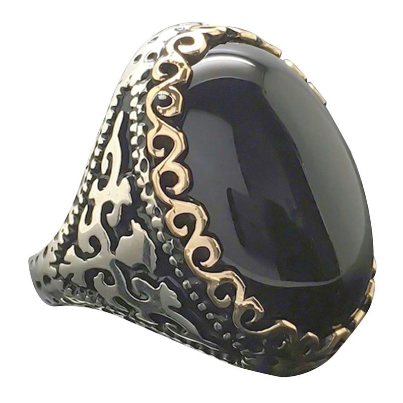 Luxury Jewelry Women Black Ring Engagement Wedding Promise Jewelry Size 6 7 8 9 10