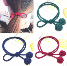 free  shipping 2017 New knotted rubber band with bowknot hair band