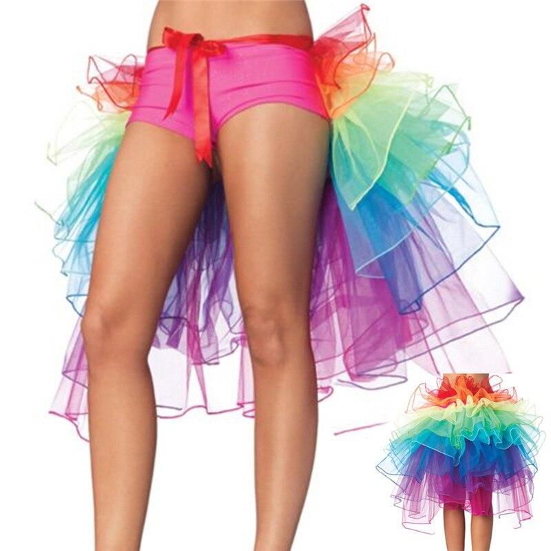 dc4fe33e3 Sexy Woman Rainbow Tail Tutu Skirt Adult Tulle Skirt Girls Cake Party Dance  Ballet Skirt Women Gauze Custume