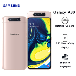 "Samsung Galaxy A80 Smartphone 6.7"" infinity display Snapdragon 730G Octa Core 8GB 128GB rotating camera 48MP Mobile Phone(China)"