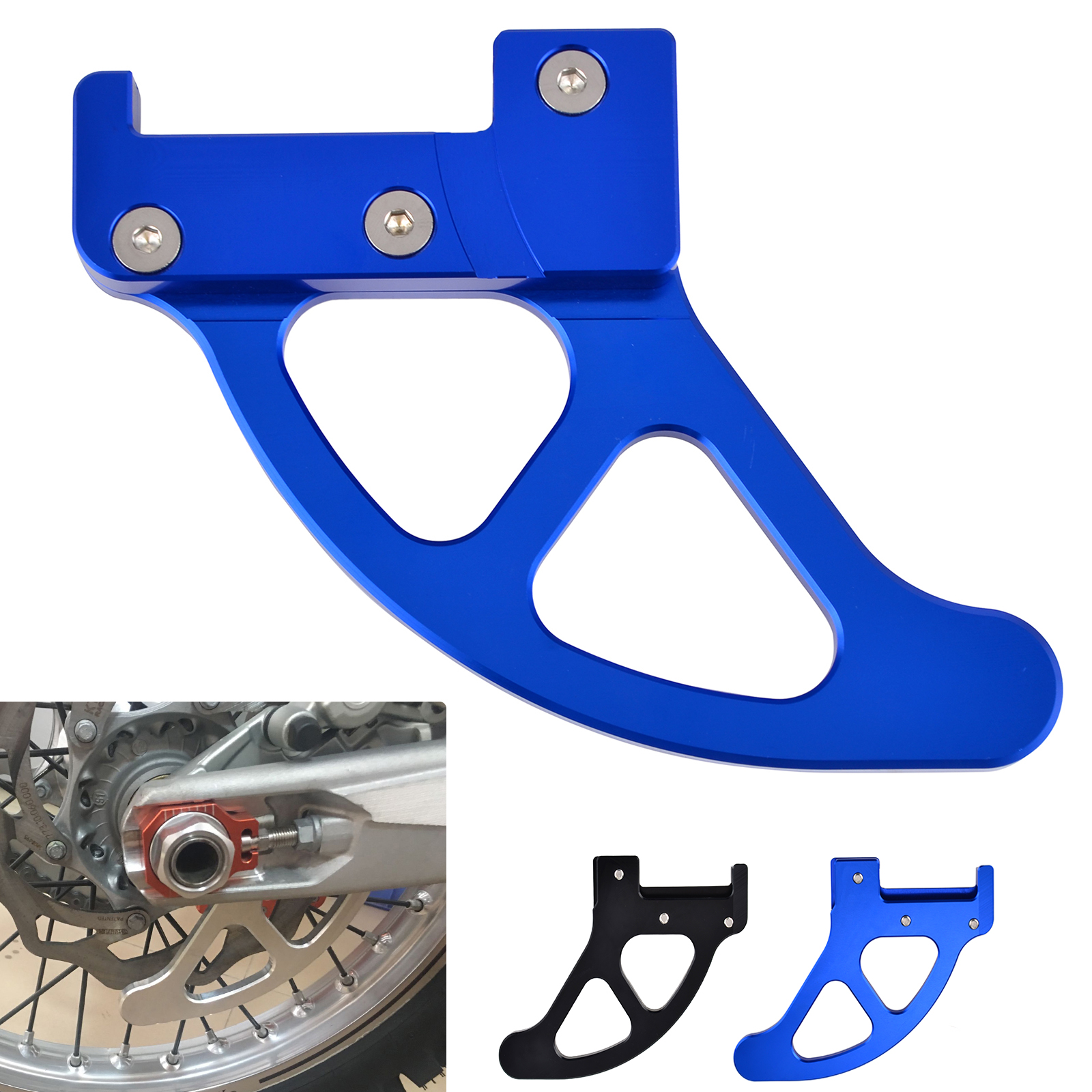 CNC Rear Brake Disc Cover Guard For Husqvarna TC FC TE FE 200 250 350 450 501 2014 2017 Husaberg 250 570 2009 2014 in Covers Ornamental Mouldings from Automobiles Motorcycles