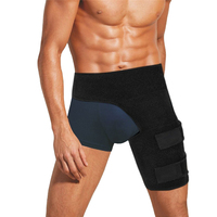 Groin Wrap Support Adjustable Thigh Strain Pain Wrap Hamstring Recovery Support Brace With Stick Strap Fastener