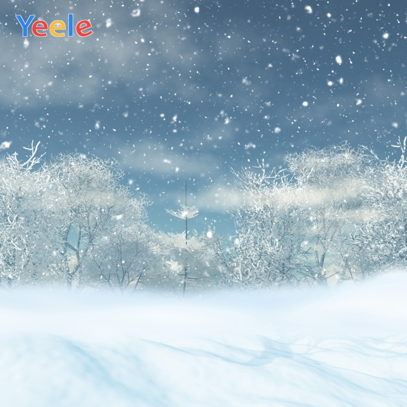 Yeele Christmas Photocall Winter Scenery Tree Snow Photography Backdrops Personalized Photographic Backgrounds For Photo Studio in Background from Consumer Electronics