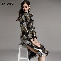 Высококачественная брендовая одежда китайское платье Для женщин роскошный Hand Made Бисер вышивка с длинным рукавом Вечерние Платье миди Винт