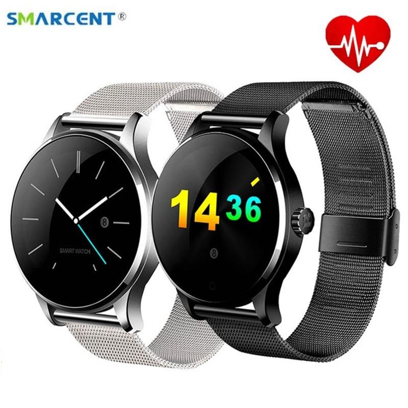 Smarcent K88H Intelligente Orologio Binario Orologio Da Polso Bluetooth Monitor della Frequenza Cardiaca Pedometro Composizione Del Telefono Smartwatch Per Android IOS