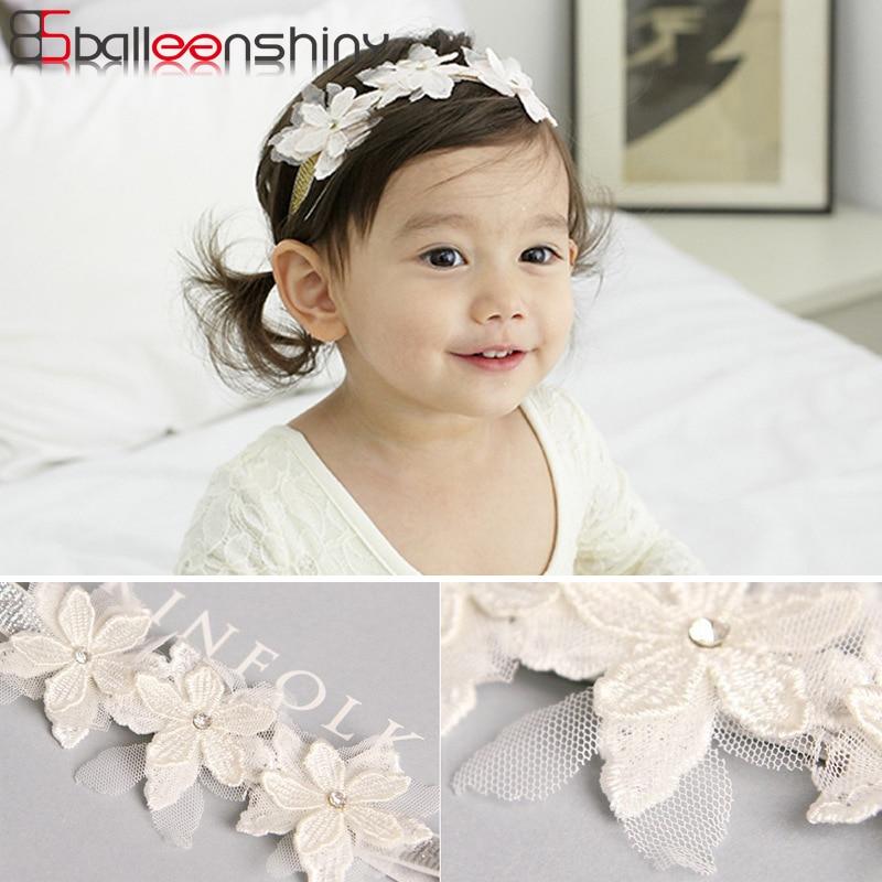 BalleenShiny Lace Flower Headband New Style Korean Kids   Headwear   Children's Day Gift Lovely Hair Decoration Baby Girls Hair Band