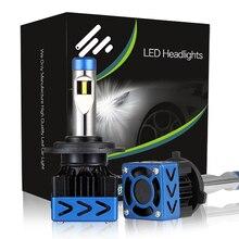 Oslamp KOOMTOOM 2 pcs d2s H1 H7 H4 Faróis de LED Do Carro lâmpadas 48 W 9600LM Lâmpada LED Faróis LED Faróis Nevoeiro Luz 6000 K