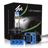 KOOMTOOM 2pcs D2s Oslamp H1 H7 H4 LED Car Headlights Bulbs 48W 9600LM LED Bulb Headlights