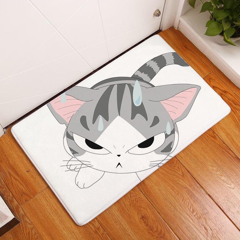 Мягкий коврик для ванной, милый домашний коврик с рисунком кота, коврики для ванной комнаты, коврики для кухни, гостиной, впитывающие Противоскользящие коврики - Цвет: 12
