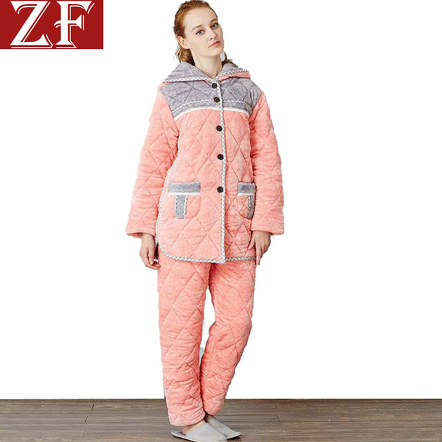 e663005dc9 ZF adult bunny onesie animal hoodie pajamas women cotton cute clothes  quilted winter indoor sleepwear pink winter robes girl 322