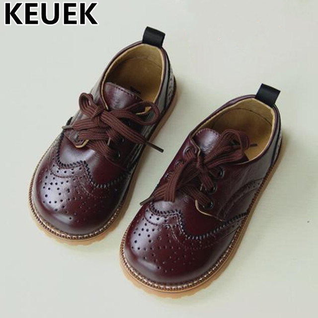 New Spring Single Shoes Children Genuine Leather Oxford Shoes Boys