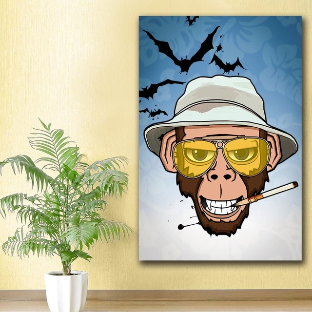 Large Oil Painting Monkey Business in Las Vegas Canvas Painting For ...