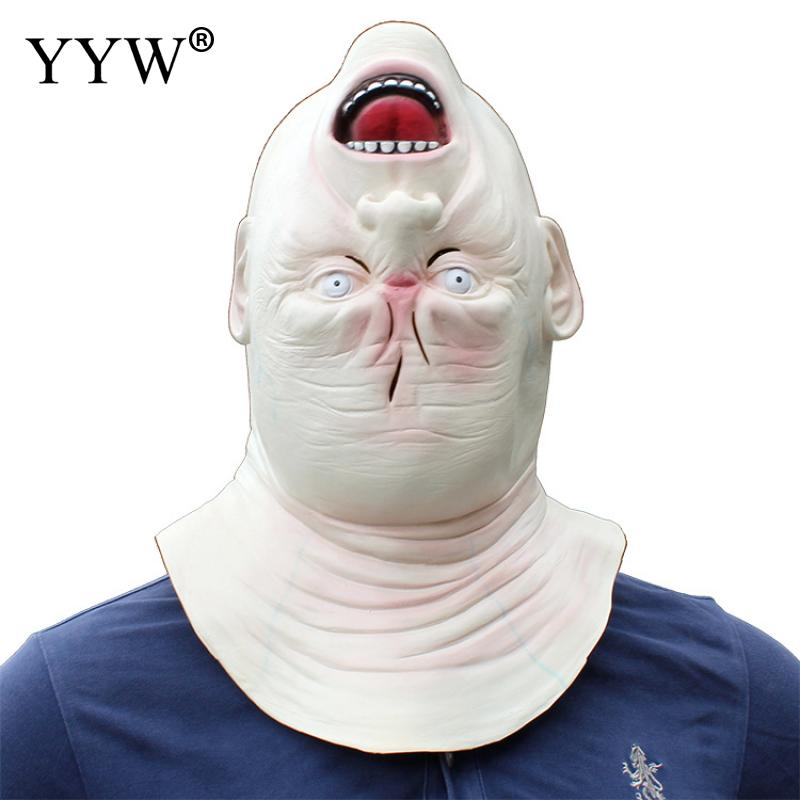 Realistic Latex Masks Scary Turned Head Halloween Horror Mascaras Man Terror Cosplay Masker Party Props Decor