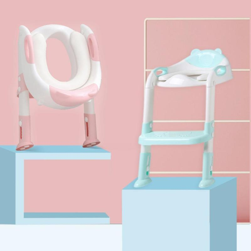 Convenient Baby Toilet Potty Safe Seat Girls Boys Toilet Training Trainer with Armrest Comfortable Toilet Seat For Little Kids | Happy Baby Mama