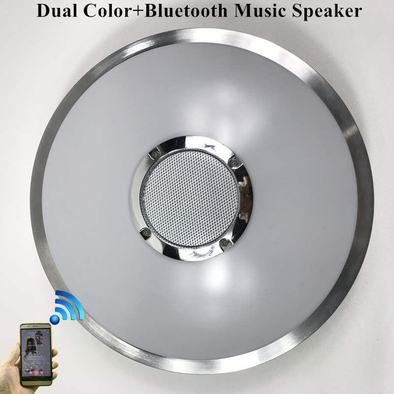 KINLAMS LED Ceiling Light With Bluetooth Speaker 12W 18W Music Playing Lamp Party Lamp Deco