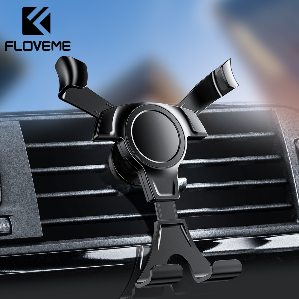 FLOVEME Gravity Car Phone Holder For Phone In Car Mount Stand Mobile Phone
