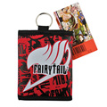 2015 Fashion Anime Japan Style High Quality Fairy Tail Theme New Red&Black Boys Casual Large Canvas Two Fold Walle