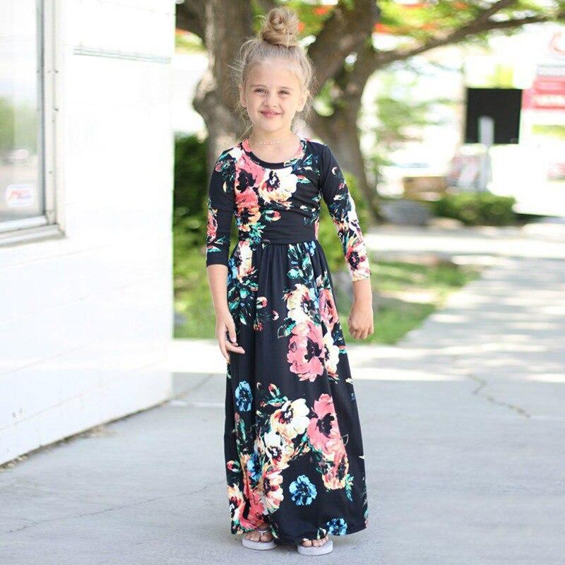 ea87b8fda7120 Chifuna Mother Daughter Bohemian Maxi Dress Family Matching Outfits ...