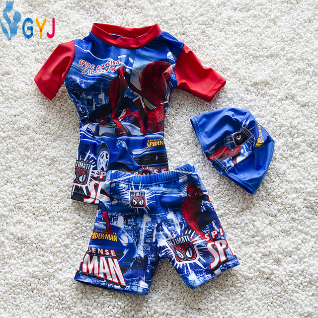 swimwear baby boys 90-105CM Spider-Man baby swimsuit baby bathing suits for boys infant swimming swim wears toddler swim suit