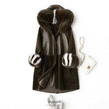 Mouton Coat female jacket womens jacket fur coat wool coat Womens winter