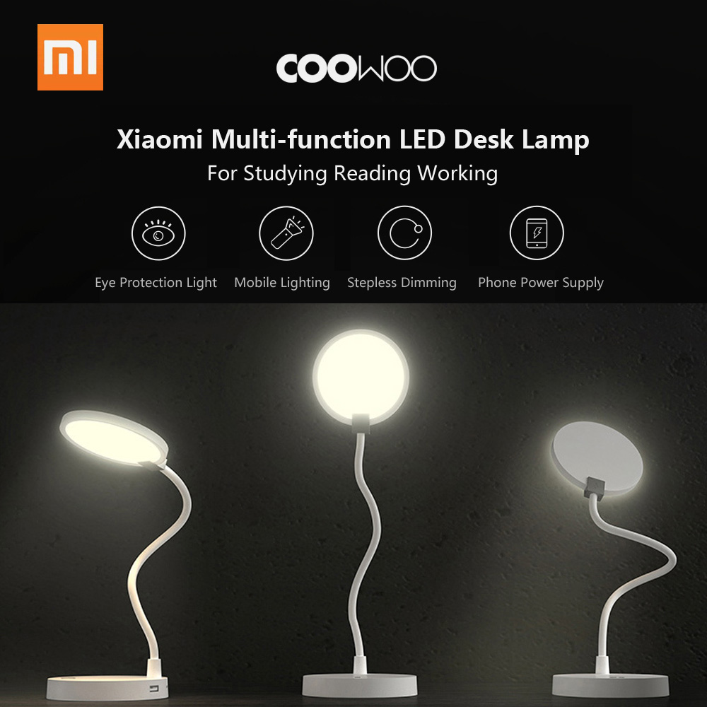 Xiaomi COOWOO U1 LED Desk Lamp Smart Table Bedside Lamp Eye Protection Light Adjustable 4000mAh Power