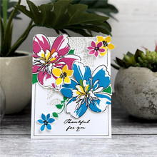 Eastshape Flower Floral Clear Stamps and Metal Cutting Dies Scrapbooking for 2019 New Craft Set Embossing Stencils