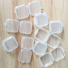 10/30PCS Mini Clear Plastic Small Box Jewelry Earplugs Storage Box Case Container Bead Clear Organizer Gift GPD8448(China)